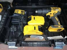 DEWALT CORDLESS BRUSHLESS IMPACT DRIVER COMES WITH BATTERY, CHARGER AND CARRY CASE (UNCHECKED,