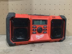 MILWAUKEE M18 JSRDAB+-0 230V OR 18V DAB+ / FM SITE RADIO (UNCHECKED UNTESTED)