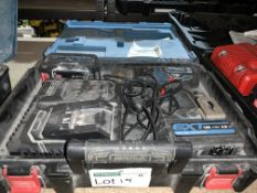 ERBAUER CORDLESS COMBI DRILL COMES WITH 2 BATTERIES, CHARGER AND CARRY CASE (UNCHECKED, UNTESTED)