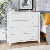 Falmouth White Chest of Drawers. RRP £299. If you're looking for a timeless and practical piece,