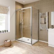 (SUP14) New 1200x700mm - 6mm - Elements Sliding Door Shower Enclosure. RRP £363.99. 6mm Safety Glass