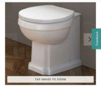 New & Boxed Cambridge Traditional Back To Wall Toilet & White Seat. Traditional Features Add