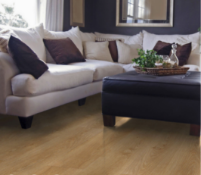 NEW PACKAGED 12.5m2 OF OVERTURE MILANO OAK EFFECT LAMINATE FLOORING. 12MM THICK. DROP LOCK CLICK