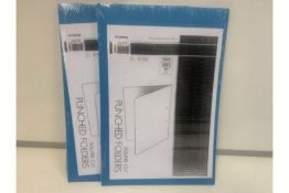 80 X NEW PACKS OF 10 ECOLABEL SQUARE CUT PUNCHED FOLDERS - COLOURS MAY VARY