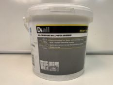 20 X NEW 3.5KG TUBS OF DIALL MULTIPURPOSE WALLPAPER ADHESIVE - READY MIXED.