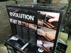 EVOLUTION R185SMS 185MM SLIDING MITRE SAW 110V COMES WITH BOX (UNCHECKED, UNTESTED)