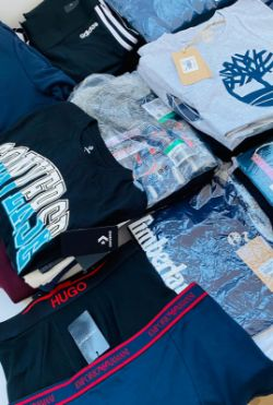 BULK LOTS OF DESIGNER CLOTHING - SUCH AS: NIKE, ADIDAS, UNDER ARMOUR, NEW BALANCE, ELLESSE, JACK & JONES, TIMBERLAND & MORE - DELIVERY AVAILABLE