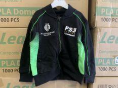 (NO VAT) 25 X BRAND NEW OFFICIAL KAWASAKI RACE TEAM BABY JACKETS VARIOUS SIZES S2