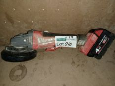 """M18 CAG115XPDB-0 FUEL 18V LI-ION 4½"""" BRUSHLESS CORDLESS ANGLE GRINDER WITH 1 BATTERY UNCHECKED/"""