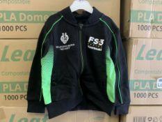 (NO VAT) 25 X BRAND NEW OFFICIAL KAWASAKI RACE TEAM BABY JACKETS SIZE 12-18 MONTHS S2