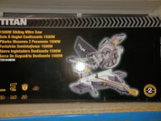 TITAN TTB794MSW 210MM ELECTRIC SINGLE-BEVEL SLIDING MITRE SAW 240V COMES WITH BO X(UNCHECKED,