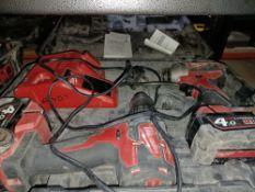 MILWAUKEE M18 CBLPP2A-402C 18V 4.0AH LI-ION REDLITHIUM CORDLESS COMBI DRILL & IMPACT DRIVER TWIN