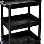 BRAND NEW BLACK PLASTIC TRAY TROLLEY RRP £270 GI436L