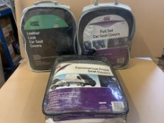 10 X BRAND NEW ASSORTED SETS OF CAR SEAT COVERS IN VARIOUS STYLES AND SIZES S1