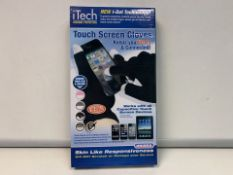 36 X NEW BOXED Pairs of iTECH Thermal Protection Touch Screen Gloves. Keep you warm and connected!