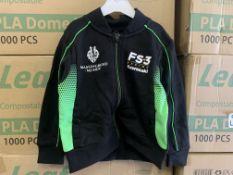 (NO VAT) 28 X BRAND NEW OFFICIAL KAWASAKI RACE TEAM BABY JACKETS VARIOUS SIZES S2