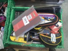 25 PIECE MIXED LOT INCLUDING FOOTPUMP, INTERIOR CLEANING KIT, BOOSTER CABLES ETC S1