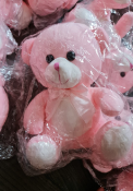 20 X BRAND NEW PINK SOFT TOY TEDDY BEARS WITH BOW RRP £12 EACH S1
