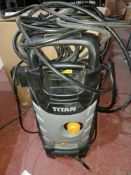 TITAN TTB1800PRW 140BAR ELECTRIC HIGH PRESSURE WASHER 1.8KW 230V (UNCHECKED, UNTESTED) PCK
