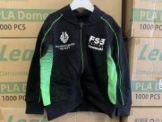 (NO VAT) 20 X BRAND NEW OFFICIAL KAWASAKI RACE TEAM BABY JACKETS SIZE 24-30 30-36 S2