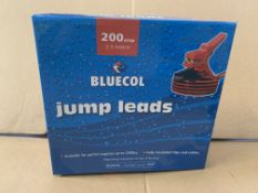 12 X BRAND NEW BLUECOL 200AMP JUMP LEADS S1