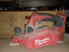 MILWAUKEE M18 BP-0 18V LI-ION CORDLESS PLANER - BARE UNCHECKED/UNTESTED - PCK