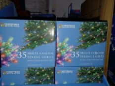 NEW BOXED 6 X MULTI COLOUR STRING LIGHTS WITH ULTRA BRIGHT LED FOR INDOOR USE LIGHT LENGTH 2.3M -