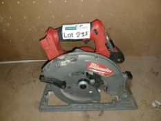 MILWAUKEE M18 CCS66-0 FUEL 190MM 18V LI-ION BRUSHLESS CORDLESS CIRCULAR SAW - BARE UNCHECKED/