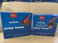 4 X BRAND NEW BLUECOL JUMP LEADS S1