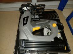 2 X TITAN TTB517STP 25MM SECOND FIX ELECTRIC NAIL GUN / STAPLER 240V COMES WITH BOXES (UNCHECKED,