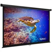 """90"""" Projector Screen. Get the full cinema experience at home with this versatile screen. (REF050)"""