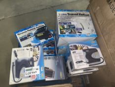 13 PIECE MIXED LOT INCLUDING AIR COMPRESSORS, TRAVEL KETTLES, REVERSE PARKING SYSTEMS ETC S1