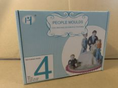 29 X BRAND NEW 24 PIECE PEOPLE MOULD SETS S1