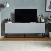 Aslo Grey TV Unit. If minimalism is your thing, this is the piece for you. (REF0207) In a sleek grey