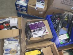 APPROX 85 PIECE MIXED LOT INCLUDING FROST PROTECTORS, STATUS ADAPTERS, SUN SHADES, CAR CHARGERS