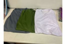 PALLET TO CONTAIN 200 X BRAND NEW ASSORTED MESH SPORTS T SHIRTS IN VARIOUS COLOURS AND SIZES