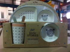 PALLET TO CONTAIN 60 X NEW BOXED LITTLE STORIES OH SO TASTY - BABY BAMBOO DINNER SETS. RRP £15