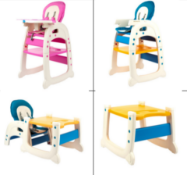 PALLET TO CONTAIN 8 x NEW BOXED BABY ZONE 3 IN 1 LUXURY BABY HIGH CHAIR. RRP £149.99 EACH