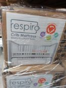 PALLET OF 20 x Brand New Boxed - Baby Trend Respiro Cot Mattress Breathable mesh and Open Air Sides.