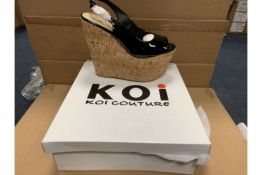 PALLET TO CONTAIN 100 X ASSORTED BRAND NEW KOI FASHION SHOES IN VARIOUS STYLES AND SIZES RRP £35-