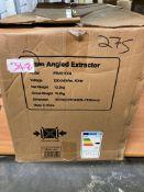 Prima+ PRAE1004 70cm Angled Chimney Hood - St/Steel & Black Glass RRP £305