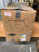 Prima 90cm Angled Chimney Hood - Black Glass PRAE0022 £305