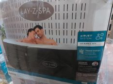 BOXED Lay-Z-Spa Miami 4 person Spa HOT TUB. RRP £499. UNCHECKED/UNTESTED