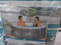 BOXED Lay-Z-Spa Saint Lucia Airjet 4 person Hot tub. RRP £410 . UNCHECKED/UNTESTED.