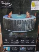 BOXED CleverSpa Ibeam Waikiki 4 Person Hot tub with lights. RRP £541. UNCHECKED/UNTESTED