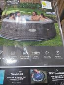 BOXED CLEVERSPA MAEVEA 6 PERSON INFLATABLE HOT TUB WITH CLEVERLINK APP. RRP £599. UNCHECKED/