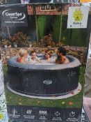 BOXED - CLEVERSPA CORONA 4 PERSON INFLATABLE HOT TUB. RRP £488. UNCHECKED/UNTESTED.