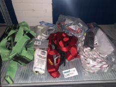 7 PIECE SAFETY LOT INCLUDING SLINGS, LANYARDS ETC BW