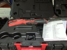 MILWAUKEE 12V 2.0AH LI-ION REDLITHIUM CORDLESS PIPE CUTTER COMES WITH CARRY CASE UNCHECKED/