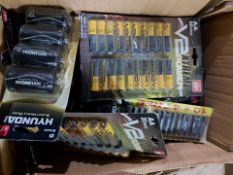 200 X PACKS OF ASSORTED BATTERIES. NOTE PAST BEST BEFORE/EXPIRY. UNCHECKED STOCK (BACK-L)